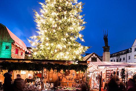 Ulm Weihnachtsmarkt.Mittelalterlicher Weihnachtsmarkt Stadt Neu Ulm